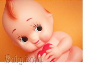 IRON ON TRANSFER I LOVE KEWPIE DOLL #2 RETRO