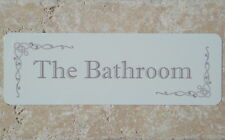 'THE BATHROOM' Door Sign Metal Plaque for Toilet / Bathroom (or Own Text Option)
