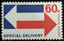 1971 60c Arrows, Special Delivery Scott E23 Mint F/VF NH