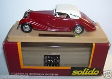 AGE D'OR SOLIDO OLD MERCEDES 540K ROUGE BORDEAUX 1939 1/43 IN BOX