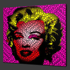 "MARILYN MONROE ICONIC CANVAS WALL ART PICTURES PRINTS 12""x12"" FREE UK P&P"