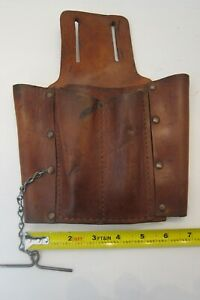 "Vintage Leather Industrial Quality ""TOOL POUCH"""