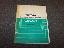 1986 Toyota Celica Coupe Electrical Wiring Diagram Manual Book ST GT GTS 2.0L