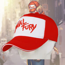 Xcoser The King of Fighters Terry Bogard Hat Fashion Red White Patchwork Cap