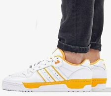 New adidas Originals Rivalry Low leather Mens athletic sneaker yellow all sizes