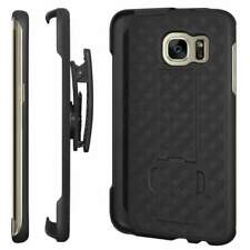 Samsung Galaxy S7 Edge Shell Holster Combo Case with Clipstand & Belt Clip