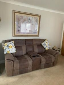 3 2 1 Brown leather sofa suite All Recliners
