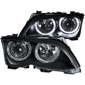 Anzo USA 121140 Projector Headlight Set w/Halo Fits 02-05 325i 325xi 330i 330xi