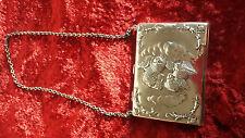 Antique English Silver Cherubs Purse Reynolds Angels