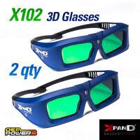 LOT OF 2 XPAND X102 DLP-LINK Universal 3D Revolution Glasses Active Shutter NEW