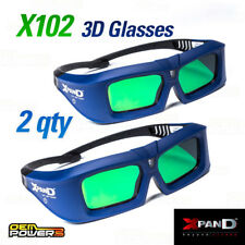LOT OF 2 XPAND X102 DLP-LINK Universal 3D Revolution Glasses Active Shutter NEW