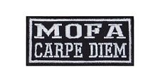 Mofa Carpe Diem Patch Aufnäher Badge Biker Heavy Rocker Bügelbild Kutte 2 Takt