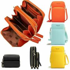 Womens Mobile Phone Bag PU Leather Pouch Cross Body Purse MINI Shoulder Bag UK