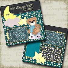 NOW I LAY ME DOWN TO SLEEP - 2 Premade Scrapbook Pages - EZ Layout 23