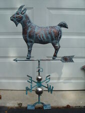 Rocky Mountain Goat Weathervane Antique Copper Finish Weather Vane Hand Crafted