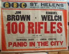 Raquel Welch 100 Rifles UK quad local movie poster ABC St.Helens(1970)(rolled)