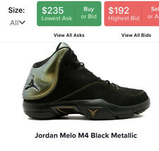 Super Rare Air Jordan Melo M4 Black Metallic Carmelo Anthony Shoes 317154 002