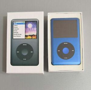 Latest 1TB Apple iPod Classic 7th Generation Blue/Black SSD Flash Custom
