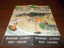 1937 Greyhound Bus Lines Michigan Travel Brochure / Nice Pictures