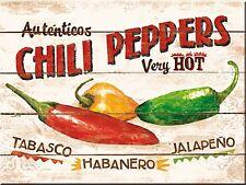Chili Peppers steel fridge magnet (na)