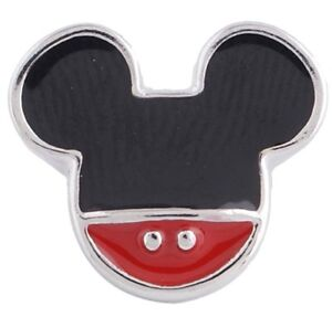 Black Red Mickey Mouse 12mm Mini Petite Snap Charm For Ginger Snaps Magnolia