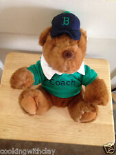 VINTAGE 1991 GUND AUTHEHTIC RUGBY BEAR LANDS END COACH PAUL BEAR PLUSH DOLL BEAR