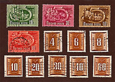 HUNGARY, 12 1950+1951 Postage Due, 5-Year Plan  +Stamps, Used See Descr   FUS590