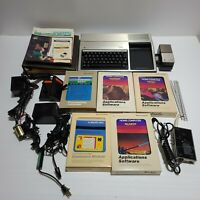 Texas Instruments TI99/4a Computer And Games Lot Untested As Is