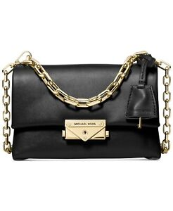 Authentic New Michael Kors Cece Extra Small Leather Crossbody Black