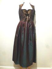Escada Silk Dorlene Sleeveless Metallic Corset Dress Size 16 BNWT Pastel Brown