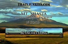 "TrainJunkies N Scale ""Mount Shasta"" Backdrop 12x80"" C-10 Mint-Brand New"