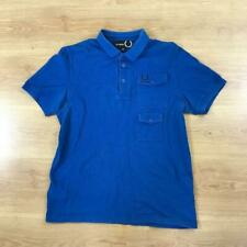 Fred Perry X Raf Simons 40 Medium M Blue Short Sleeved Polo Shirt Limited Edn