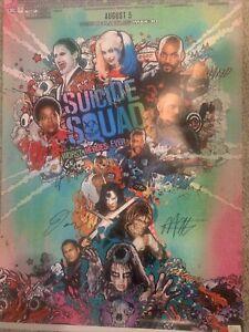 "SUICIDE SQUAD ""Robbie, Smith, Leto, Davis +7 Signed Autographed 24x36 Poster COA"
