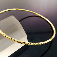 FSA888 GENUINE REAL 18CT YELLOW G/F GOLD LADIES ANTIQUE CUFF BANGLE BRACELET