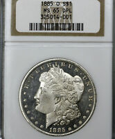 1885-O MS65 DMPL DPL Morgan Silver Dollar $1, NGC Graded
