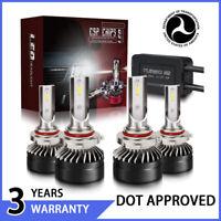 2 pair 9005 + 9006 Combo LED Headlight bulbs 60W 12000LM 6000K US  HJ-149