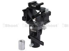Flash Holder--Tri-Hot Shoe Mount--2 Umbrella Hole for Light Stand/Camera Tripod