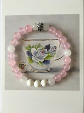 Spiritual Protection Bracelets Stones Pink Chalcedony with Solid Sterling Silver