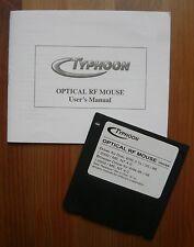 Bedienungsanleitung für Optische Funkmaus von Typhoon, mit Treiber-Diskette