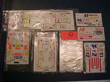 8 NASCAR 1/24 WATER SLIDE DECAL LOT JEFF GORDON TONY STEWART TERRY LABONTE