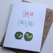 Farter Christmas... Funny Christmas Card, Sprouts, Fart, Xmas, Father, Dad