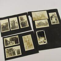 Estate Lot 20 Antique Photographs Black & White Photos Vintage Scrapbook Pages