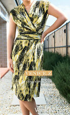 Polyester Multi-Colored Wrap Dresses