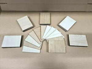 10pcs Offcuts Wooden Plate Model Veneered Plywood Wood Sheets DIY House Aircraft