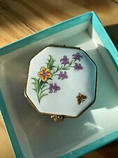 Limoge trinket box for Tiffany & Co. Tiffany Garden 10 Hexagonal