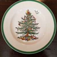 Spode Christmas Tree Salad Plate 7 3/4 inch Made in England S3324 Z 95 Mint cond