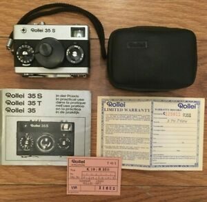Vintage Rollei 35 S Camera With Case , Manual and Other Paperwork Included