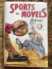 NY Yankees Aaron Hicks Original Pulp Cover Recreation Vintage Baseball Book MLB