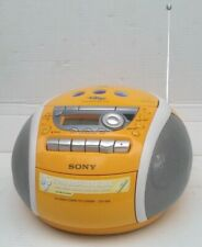 SONY CFD-E95 Yellow CD CD-R Player Cassette-Corder AM/FM Radio Boom Box MegaBass