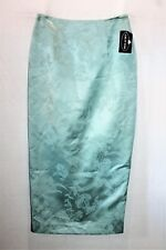 Geoff Bade Brand Pastel Green Floral Evening Maxi Skirt Size 12 BNWT #TH48